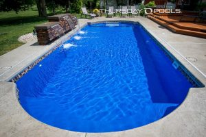 Cathedral pool, Maya colored liner